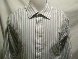 MICHAEL KORS Mens Button Up Dress Shirt 17-32/33 XL White/Black/Blue Str... - €15,08 EUR