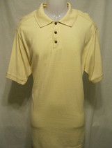 CARIBBEAN JOE Mens Polo Style Shirt,L Large,Ivory,Short Sleeves,Golf,Cam... - $13.96