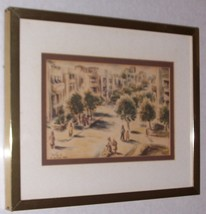 SIGNED 1952 DAVID GILBOA JUDAICA TEL AVIV ISRAEL LITHO - $386.99