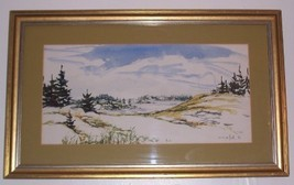 SIGNED 1972 EVELEYN KOK WATERCOLOR ART SCENIC P... - $311.85
