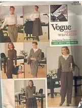 2329 sin Cortar Vogue Patrón de Costura Misses Chaqueta Blusa Falda Pant... - $8.99