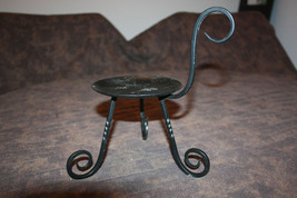 Partylite Black Wrought Iron Candle Holder - $7.99