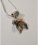 Pine Cone Leaf  Tibetan Silver Charm Fit Europe... - $6.99