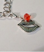 Lips Tibetan Silver Clip Charm  - $6.99