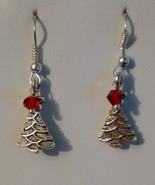 Silver Plated Christmas Tree  Earrings - $0.00