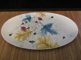 2007 Starbucks Leaves Falling Coffee Ceramic China Serving Platter Painted RARE - $29.99