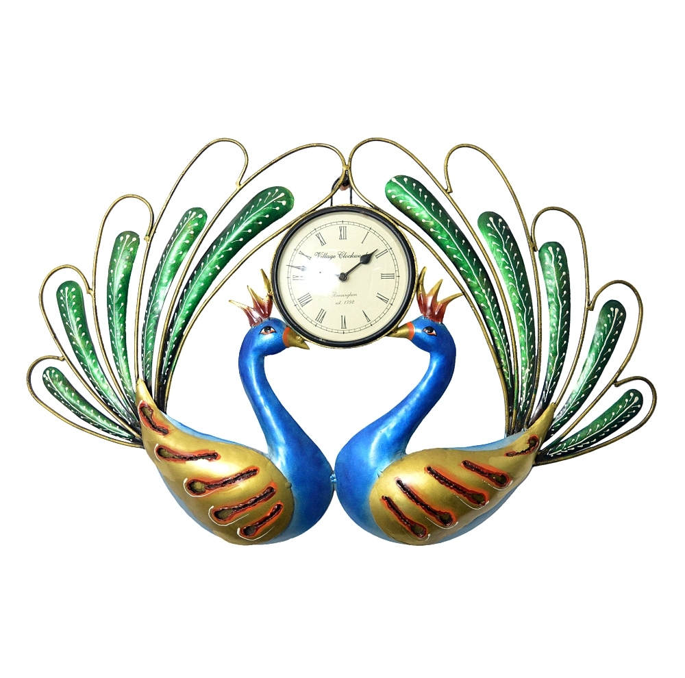 Decorative Wall Clock/Living Room of Two Peacocks Birds Wall Clock