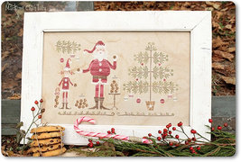 Santa's Cookies christmas cross stitch chart Madame Chantilly - $16.20