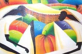 SIGNED A.E. AFRICAN CARIBBEAN CONTEMPORARY ART PAINTING - $2,454.49