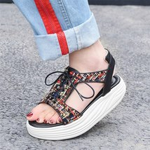 Quality Genuine 2018 Leather Flops Flip High Women Sandals FEDONAS Summer 2018 ARwxq4xg