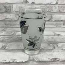Vintage Libbey Silver Leaf Glasses Cocktail Frosted Tumblers 6 Available - $21.99