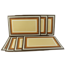 Lot of 7 Vintage 70s Mid Century Modern MCM Rectangle Striped Place Mats... - $79.15