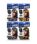 Tyche Silky Durag Men's Zebra Pattern Ultra Stretch Extra Long Tie Spand... - $5.95