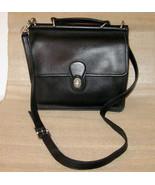 Vintage Coach Willis Crossbody Handbag Sleek Black Leather Shoulderbag Bag - $149.99