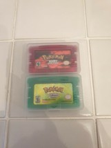 POKEMON GAMES RUBY & LEAF GREEN GBA GAMEBOY ADVANCE DS  - $16.88