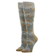 Harry Potter Movie Lurex Flying Keys Adult Knee High Socks - $12.99