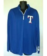 Texas Rangers Men's Blue 1/4 Zip Pullover XL Ballpark SGA Promo MLB Base... - $14.67