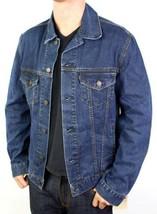 NEW LEVI'S MEN'S CLASSIC COTTON BUTTON UP BLUE JEANS JACKET 707970023 SIZE L