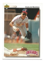 Carlos Baerga 1992 Upper Deck Card #231 Cleveland Indians Free Shipping - $0.99