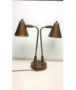 Vtg MID CENTURY Lightolier Swivel 2 Light Table Desk Lamp Industrial 19 ... - $81.92