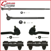 6 PC Set Steering Drag Links 3 Tie Rod Ends 2 Sleeves Ford F250 85-94 4WD F-250 - $110.97