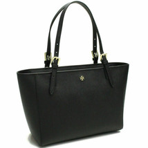Tory Burch York Buckle Tote Saffiano Leather Black - $253.30