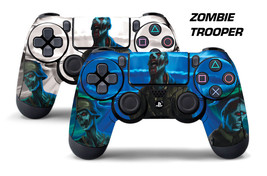 Dual Skin Sticker Wraps 2 Pack PS4 Playstation 4 Remote Controller Decals ZOMBIE - $9.85