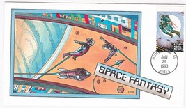 SPACE FANTASY #2743 US FIRST DAY COVER 1993 COLLINS HAND PAINTED FDC - $14.94