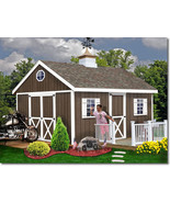 Best Barns Easton 16x12 Wood Storage Shed Kit - ALL Pre-Cut - $3,052.62