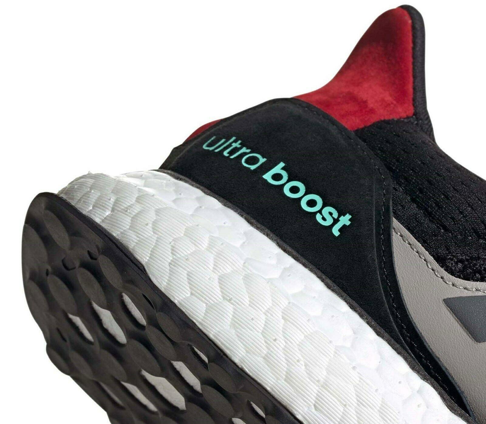 ADIDAS ULTRABOOST 1.0 S&L BLACK/GREY/RED SIZE 8 NEW W/BOX FAST SHIPPING (EF0724)