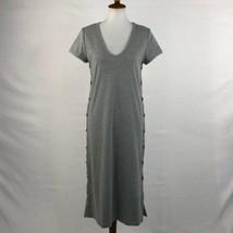 Women's Anthropologie Maeve Gray Side Button Knit Maxi sz XS - $66.65