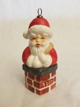 Goebel 1982 5th Edition Christmas Tree Ornament - Santa In Chimney - $6.19