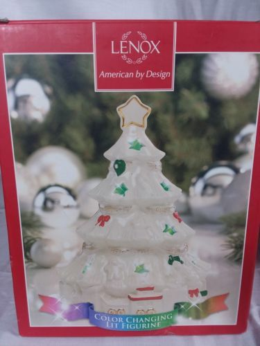 Lenox Seasons Sparkle Color Changing Lit Christmas Tree Figurine