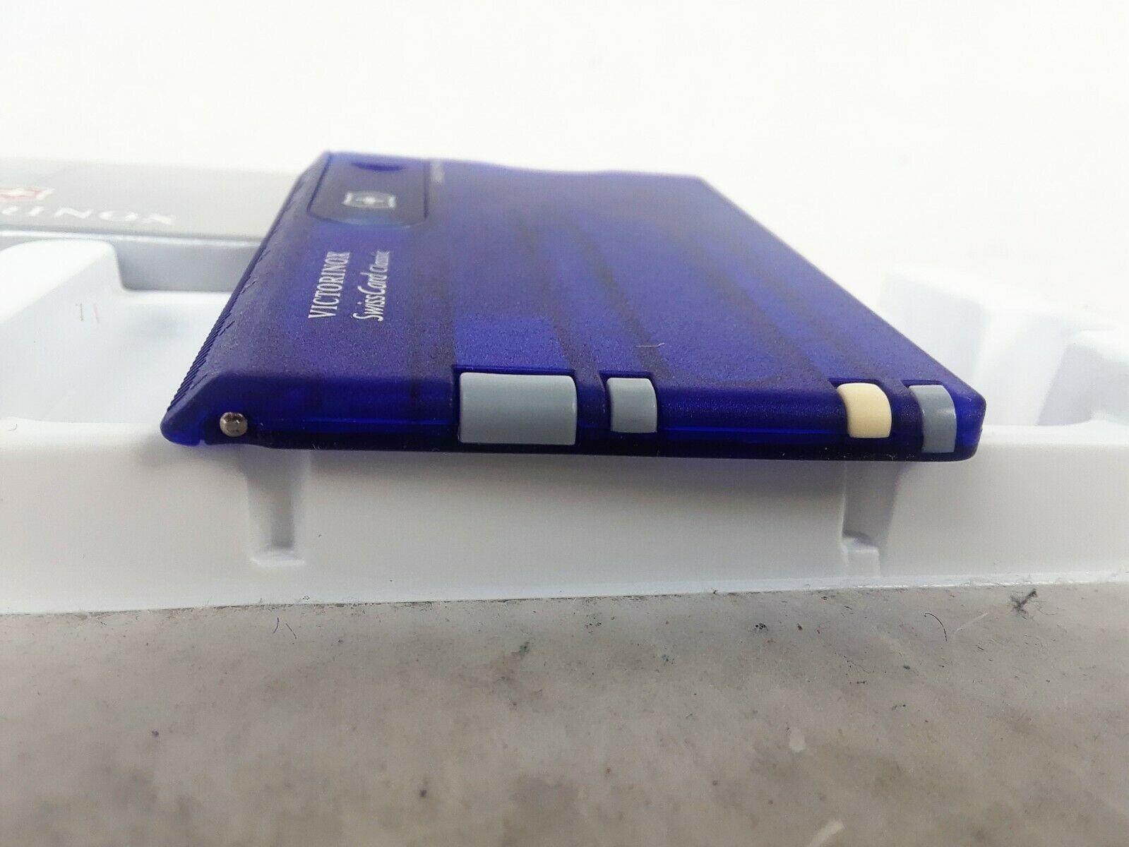 Victorinox SwissCard Translucent Sapphire 53928 Multi Tools