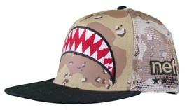 Neff Men's Desert Storm Camo Thunderbolt Mesh Snapback Baseball Hat Cap NWT image 2