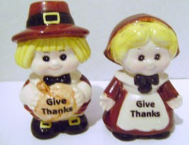 Pilgrim Couple Salt & Pepper Shaker Set - $6.00