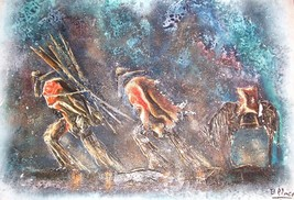 SIGNED B. PIMCE MIXED MEDIA SOUTH AMERICAN ART PAINTING - $856.79