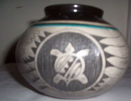 SIGNED BLACKHORSE MITCHELL NAVAJO VASE POTTERY - $211.14
