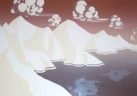 "SIGNED DAVID ALLGOOD EMBOSSED ART 'LANDSCAPE"" S... - $289.14"