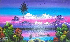 SIGNED ELDON SPENCE JAMAICA CARIBBEAN WEST INDIES ART - $289.49