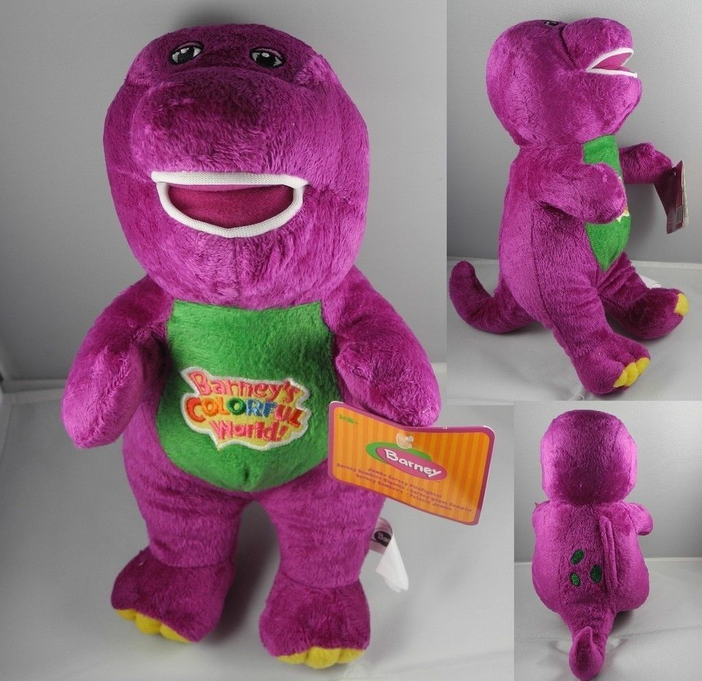 "Primary image for 12"" Barney Sing Song Musical Plush Purple Dinosaur Doll ideal for gift"