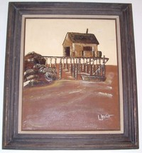 SIGNED FRANK WALCUTT FISHING BOAT DOCK ART PAINTING - $484.49