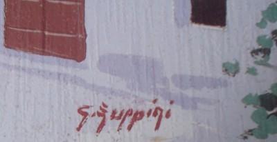 """SIGNED GIORGIO ZUPPINI """"CASE SUL MARE"""" LITHO ART PRINT"""