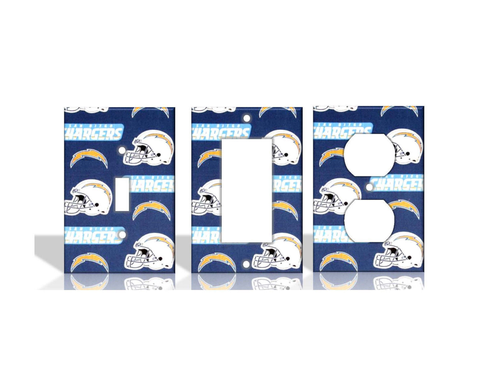 San Diego Chargers 2 Blue Light Switch Covers Football