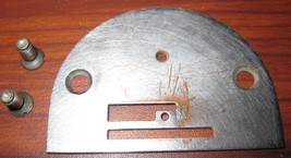 Vintage Singer 15-91 Throat Plate #125319 w/Screws - $7.50