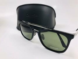 New Calvin Klein CK18719S 001 Black Sunglasses & Green Lenses with Case - $43.51