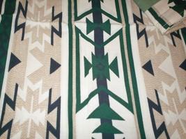 HOME TRENDS set 4 Sedona 100% Cotton Napkins Green/White Aztek print New - $6.92