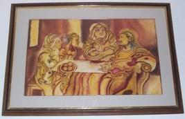 SIGNED JARAMILLO LATINO JESUS EN CASA DE MARTA Y MARIA - $3,946.99