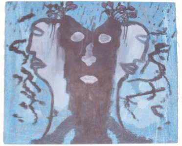 "SIGNED JOEL N. PIERRE ""CRUCIFICATION"" HAITIAN PAINTING"