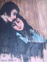 SIGNED KEVIN McALPIN COUPLE IN LOVE PORTRAIT PAINTING - $386.99
